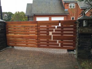 Bespoke Cedar Wooden gate installation – Installation by Home IQ