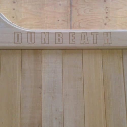 Wooden Gate Engraving