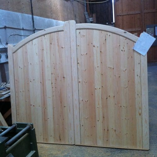 Pair of Softwood Gates with arched top