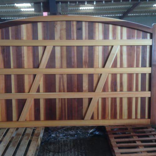 Cedar gate, very large driveway gate