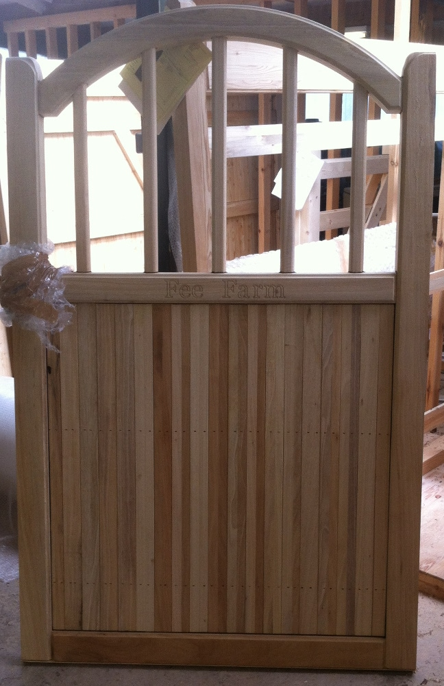 Bow top Spindle Wooden Garden Gates