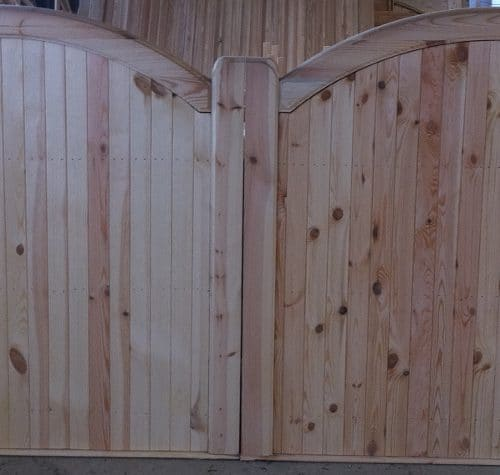 Double Arch Top Double Sliding Gates