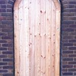 Brick Arch Top Wooden Garden Gates