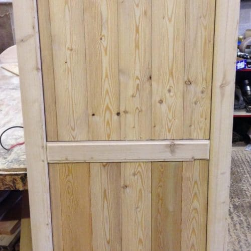 Flat Top Framed Wooden Garden Gate