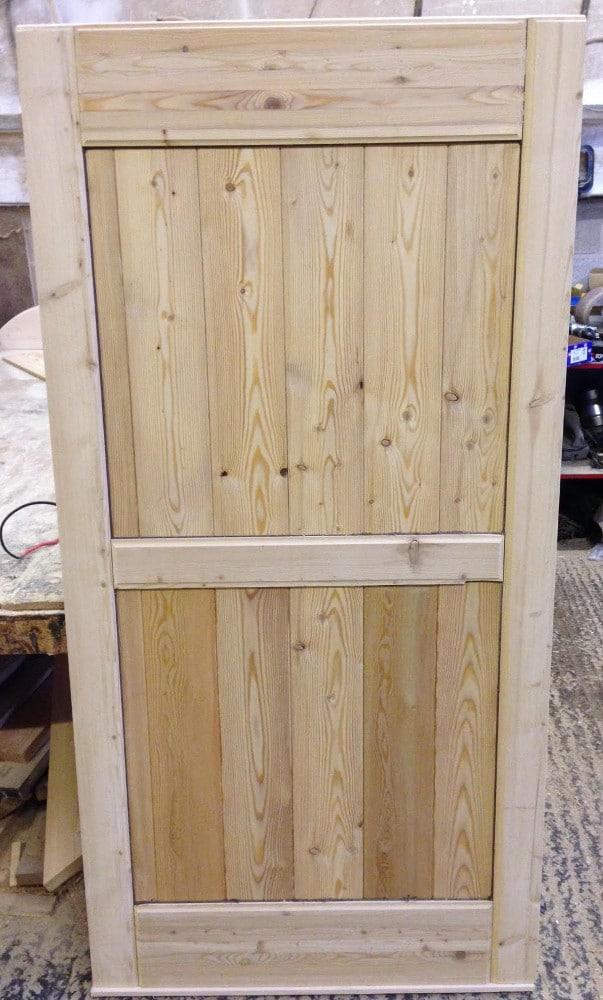 Flat Top Framed Wooden Garden Gate