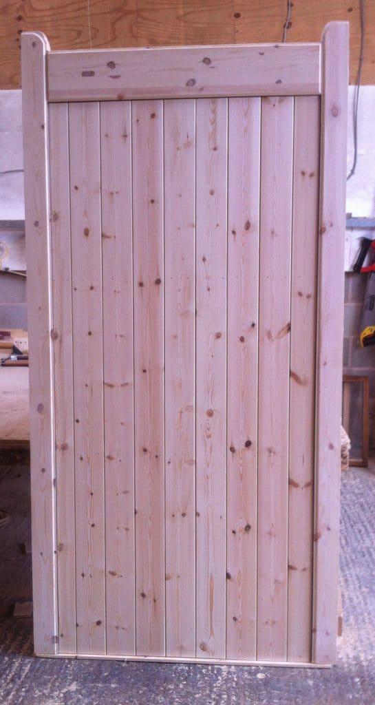 Classic Flat Top Framed Wooden Garden Gate