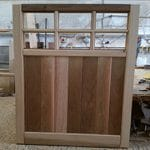 Wooden Garage Doors - Half panel - 6 openings for windows
