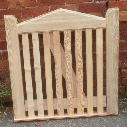 Slope top Single Picket Side Gates