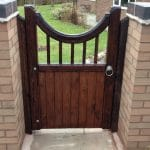 Reverse Bow top Spindle Wooden Garden Gate