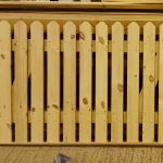 Picket Top Double Wooden Driveway Gates