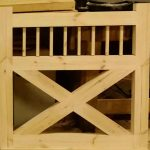 Flat Spindle Top X Wooden Garden Gate