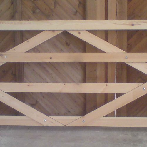 Flat Top 4 Bar Wooden Field Gate