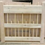 Flat Spindle Top Spindle Bottom Wooden Side Gates