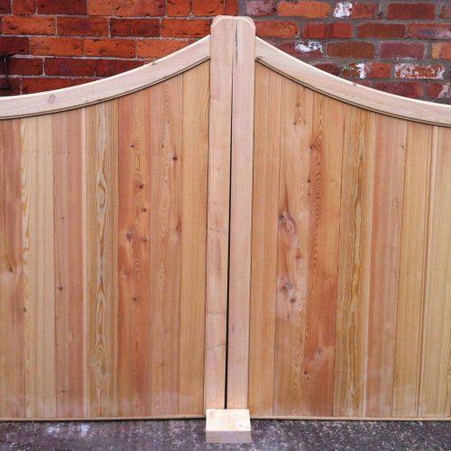 Peak Top Wooden Driveway Gates
