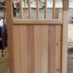Brick top Spindle Wooden Garden Gates