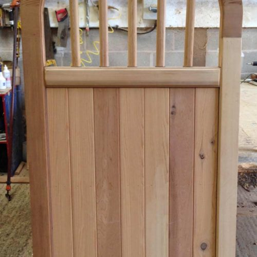 Brick top Spindle Wooden Side Gates
