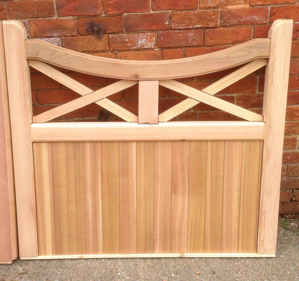 Lattice Top Wooden Garden Gates