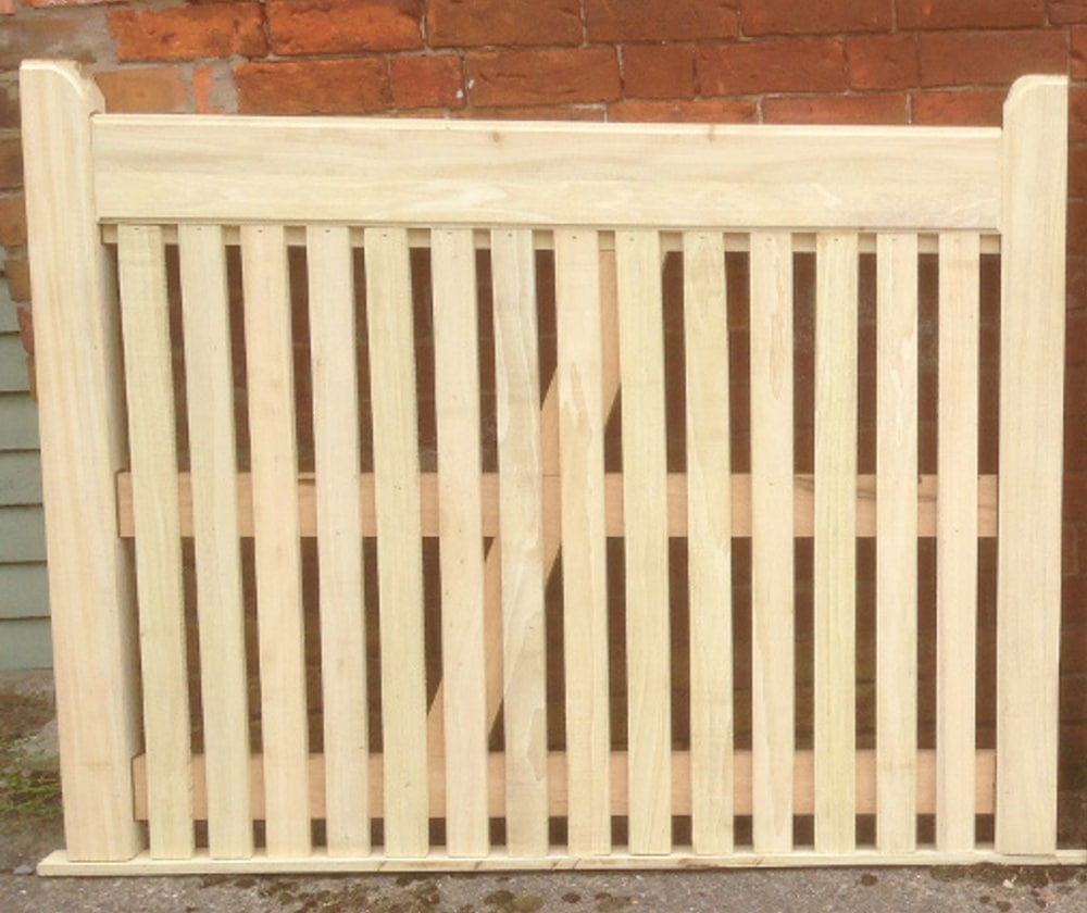 Flat Top Picket Wooden Side Gate