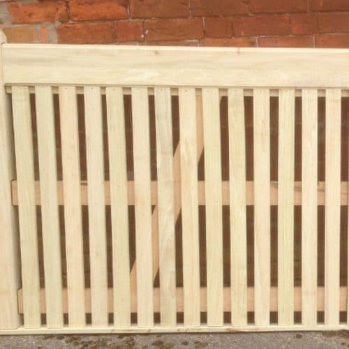 Flat Top Picket Wooden Garden Gate