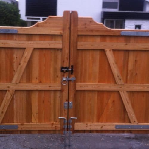 Reverse Gun Stock Wooden Driveway Gates