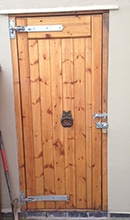 Wooden Garage Side Door - Full Panel