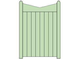 Reverse Slope Top Wooden Side Gate