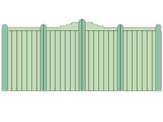 Bi folding Gates - Reverse Gunstock
