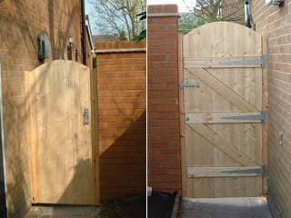 Ledge & Brace Arch Top Wooden Side Gate