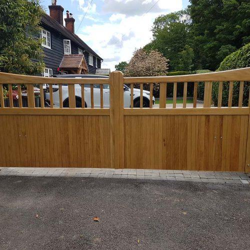 Hardwood Driveway Gates