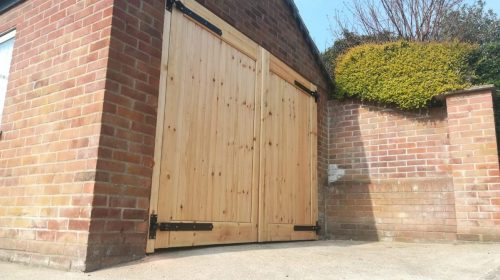 garage doors, wooden garage doors